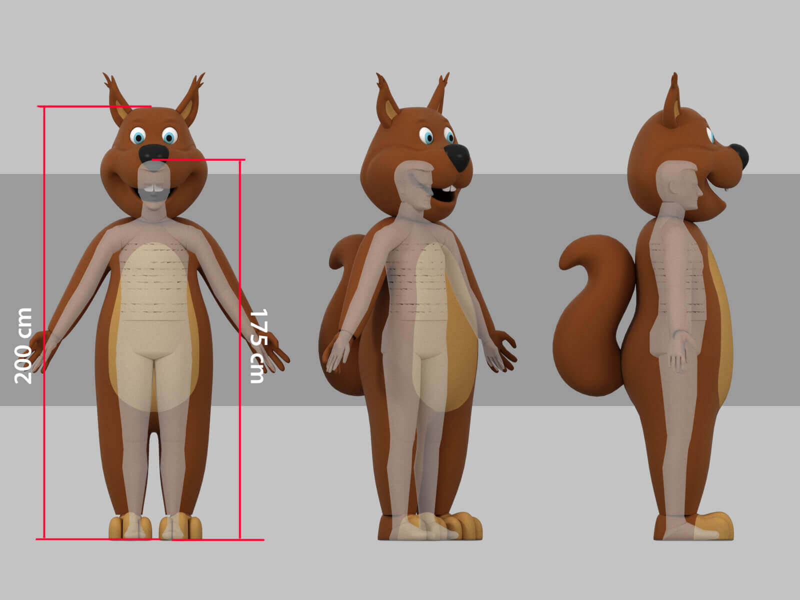 Tofifee Squirrel3D scale